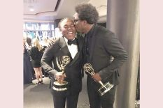 """W. Kamau Bell with """"United Shades of America"""" executive producer, Donny Jackson"""
